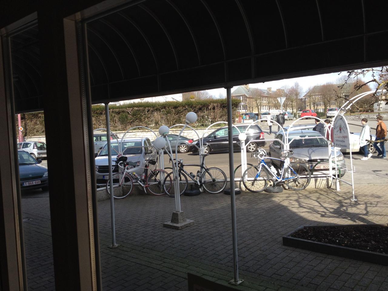 Les vélos sont bien en place